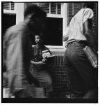 [African American students arriving without incident at Van Buren High School, Little Rock, Arkansas]