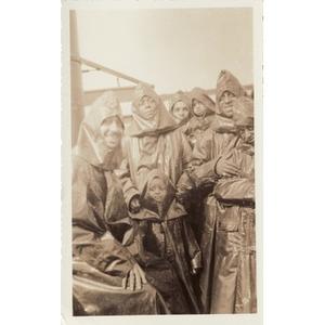 A group in ponchos at Niagara Falls