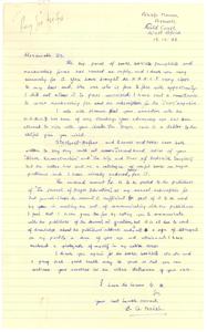 Letter from B. G. Nsiah to W. E. B. Du Bois