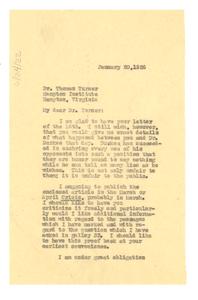 Letter from W. E. B. Du Bois to Thomas Turner