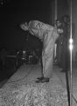 Eddie Floyd performing on stage at the Laicos Club in Montgomery, Alabama.