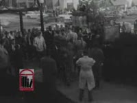 WSB-TV newsfilm clip of the arrival of Charlayne Hunter and Hamilton Holmes, the first African American students at the University of Georgia in Athens, Georgia, 1961 January 9
