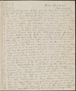 Letter from Anne Warren Weston, Groton, [Mass.], to Deborah Weston, April 10, 1838, Tuesday evening