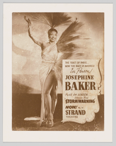Poster of Josephine Baker advertising her performance at the Strand Theater