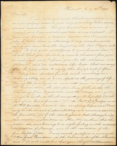 Letter from James Forten, Philad[elphi]a, [Pennsylvania], to William Lloyd Garrison, 1832 July 28th