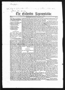 The Galveston Representative. (Galveston, Tex.), Vol. 1, No. 14, Ed. 1 Saturday, March 9, 1872 The Representative