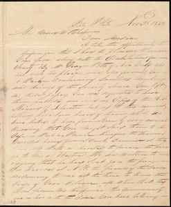 Letter from William P. Griffin, Porto Plata, [Santa Domingo (Dominican Republic)], to Maria Weston Chapman, Nov. 28, 1842