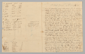 Letter to Giles Saunders from Samuel Fox regarding the slave trade