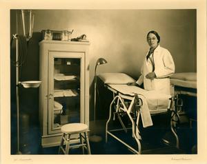 Virginia M. Alexander in exam room