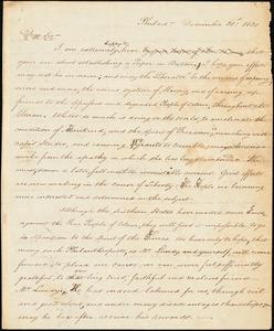 Thumbnail for Letter from James Forten, Philad[elphi]a, [Pennsylvania], to William Lloyd Garrison, 1830 December 31st