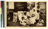 Missionary teaching the Catechism to orphans, Cuttack, India, ca.1920-1940