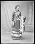 Full length view of Potawatomi Indian. U. S. Indian School, St Louis, Missouri 1904