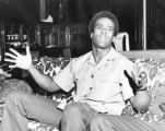 """Black Panther Minister of Defense Huey P. Newton"""