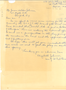 Letter from NAACP St. Paul Branch to James Weldon Johnson