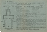 Althea Hurst scrapbook, 1938. Page 72. Guide for visitors of the Collegiate Church of the Holy Trinity in Stratford-on-Avon
