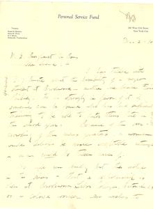 Letter from Anna N. Davis to W. E. B. Du Bois