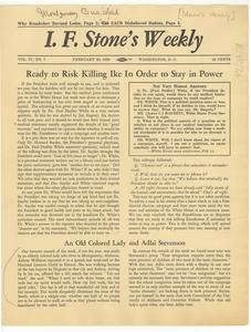I. F. Stone's Weekly