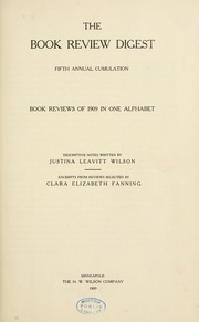 Book review digest, 1909 v.5