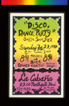 Disco Dance Party, Announcement Poster for
