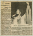 """""""A Review - Lena Horne Is Superstar At Young 62"""""""