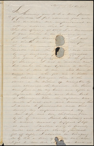 Thumbnail for Letter from William M. Connelly, New York, [New York], to William Lloyd Garrison, 1858 Feb[ruary] 11th