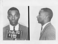 Mississippi State Sovereignty Commission photograph of John P. [sic] Moody following his arrest for his participation in the Freedom Rides, Jackson, Mississippi, 1961 May 25