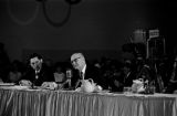 Senator John C. Stennis speaking at a hearing of the Senate Subcommittee on Employment, Manpower, and Poverty at the Heidelberg Hotel in Jackson, Mississippi.