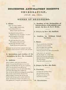 The Dorchester Anti-Slavery Society's Celebration. July 4th, 1835