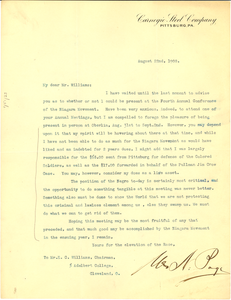 Letter from unidentified correspondent to E. C. Williams