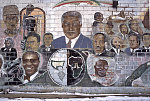 """MLK Jr. mural, """"People of Color, Dedicated to the Brothers and the Sisters from Day One"""" by Glenn Rock, 1998, W. 100th St. at Halsted, Chicago 2011"""