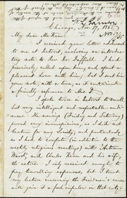 Letter to] My dear McKim [manuscript
