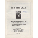 Cover of Martin Luther King, Jr.: His three-pronged attack on: I. Christ and the Bible, II. The United States of America, III. Law and order