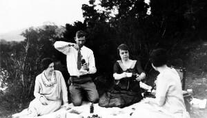 Preparing the picnic