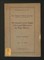 American Negro Society Occasional Papers #13 1909. (Box 12, Folder 13)