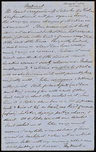 Memorandum from Samuel May, May 21st, 1852