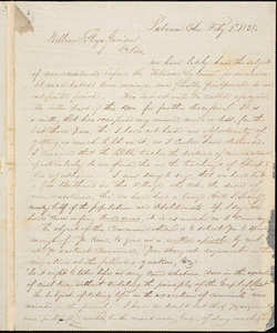 Letter from George Helmick, Putnam, Ohio, to William Lloyd Garrison, 1838 Feb[ruar]y 3d