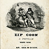 Zip Coon: A Popular Negro Song