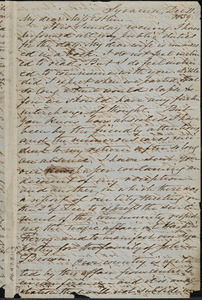 Letter from Samuel Joseph May, Syracuse, [New York], to Mary Anne Estlin, 1859 Dec[ember] 11