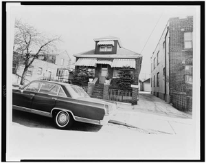 [Exterior view of home of Malcolm X, Queens]