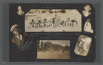 Scrapbook page of snapshots of friends of George Brashear, including photographer Prentice (P.H.) Polk, and teachers from Lincoln Institute, circa 1919