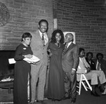 Ballantine Award winner Edna Aliewine posing with others, Los Angeles. ca. 1974