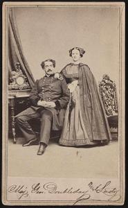 [Major General Abner Doubleday of General Staff U.S. Volunteers Infantry Regiment, in uniform with his wife, Mary Hewitt Doubleday]