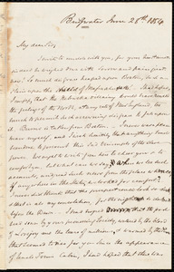 Letter from S. Alfred Steinthal, Bridgewater, [England], to Samuel May, June 28th, 1854