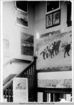 Photograph of an Art Exhibit in the Oglethorpe School building at Atlanta University, Atlanta, Georgia, circa 1905