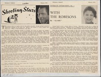 Shooting stars, intimate interviews, No. 1 with the Robesons