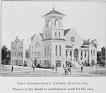 First Congregational Church, Atlanta, Ga.; Pioneer in the south in institutional work for the race