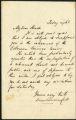 Dion Boucicault letter, 1861 November