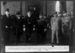 Japanese Delegation arrived October 24th, 1921--Left to right: Robert Woods Bliss, Baron Shiushara, Admiral Coontz, Admiral Kato, General Tanaka, General Brewster