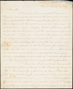 Thumbnail for Letter from James Forten, Philad[elphi]a, [Pennsylvania], to William Lloyd Garrison, 1831 March 21st