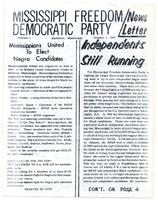Mississippi Freedom Democratic Party newsletter (No. 1)